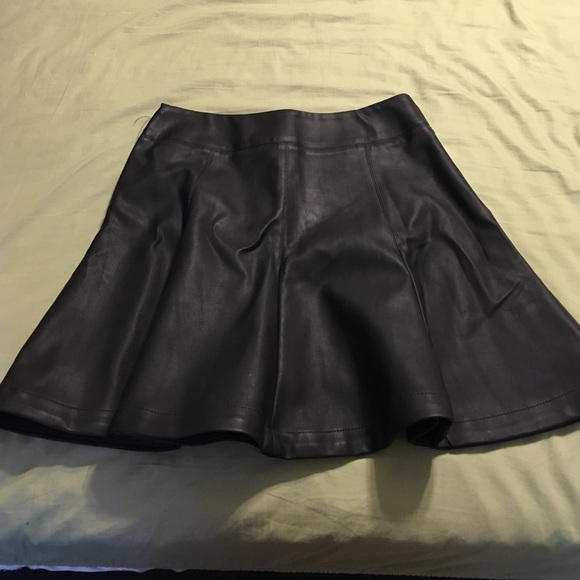express faux leather skater skirt from s closet