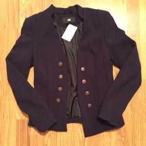H&M military style blazer jacket