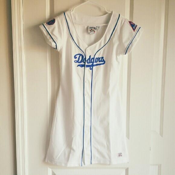 1c659d2ce Carl Banks Dresses   Dodgers Throwback Jersey Dress   Poshmark