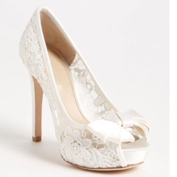 38 Off Joan David Shoes Nordstrom Lace Bow Wedding Heels From Ashley