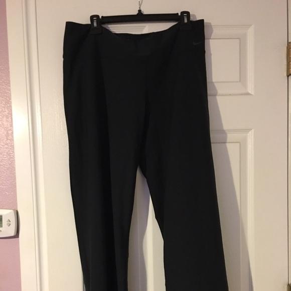 69% off Nike Pants - NWOT Nike Dri-Fit Wide Leg Athletic Pants ...