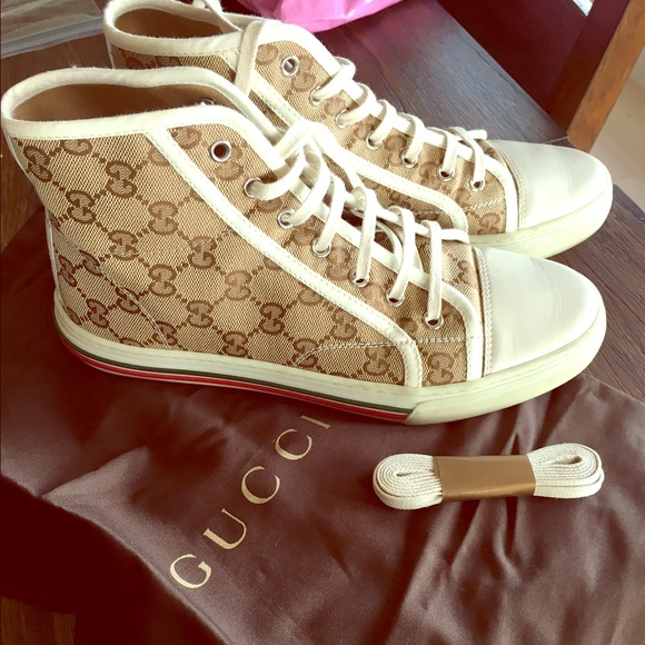 8fc8abec471 Gucci Shoes - Gucci High Top Shoes womens 8.5 or men s 7