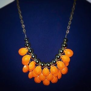 Orange and Gold statement necklace