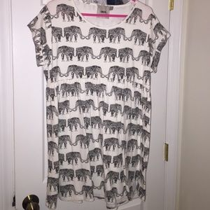 Asos baby doll elephant print dress. Size 4.