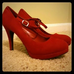 Delightful Designs Shoes - Red Suede Heels