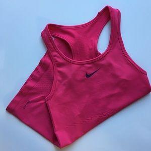 Nike Perforated Dri-Fit Tank Top in Dark Pink