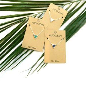 Alicia Jean Jewelry - Petite Gemstone/Sterling Silver Pendant-3-styles
