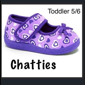 Chatties Other - 🎈BOGO 1/2🎈 Lilac Hearts Mary Jane Slipper.