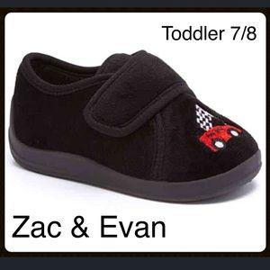 Zac & Evan Other - 🎈BOGO 1/2 🎈 Black Race Car Slippers.