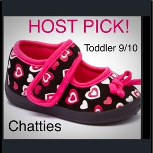 Chatties Other - 🎈BOGO 1/2🎈🎉HP🎉 Pink Hearts Mary Jane Slippers.