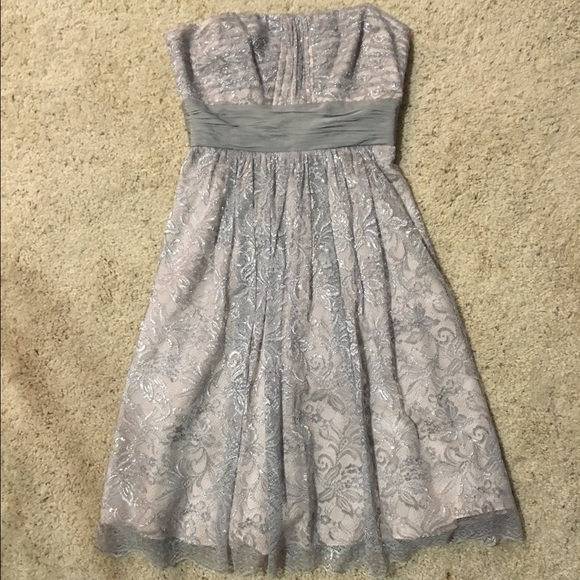 BCBG Lace Overlay Cocktail Dress