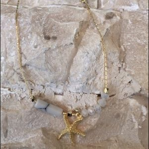 Jewelry - Starfish Gold Tone Ankle Bracelet