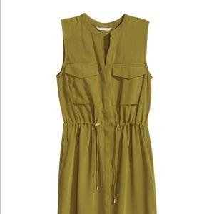 8e7b2240dae3b H M Dresses - H M Olive Green Sleeveless Shirt Dress