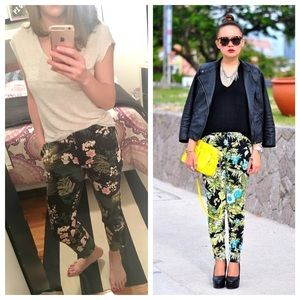 Adrianna Papell Pants - Adrianna Papell Tropical Print Pants