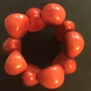 Jewelry - Bohemian blood orange stone bracelet