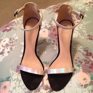 Zara iridescent single strap sandal