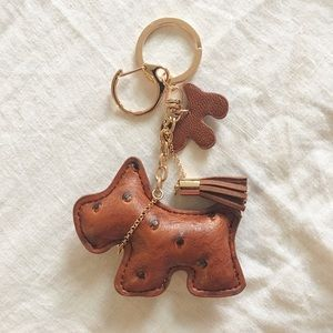 Schnauzer Bag Charm Brown