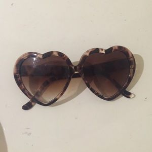 heart shaped sunglasses from UO