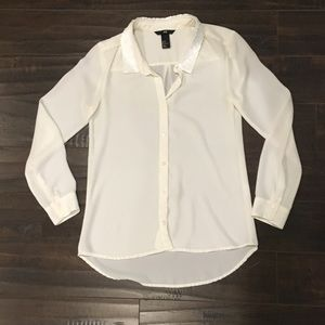 H & m long sleeve button down shirt