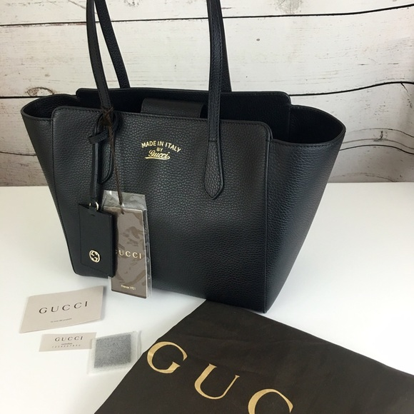 9dfdb20b110 Gucci Swing Small Leather Tote