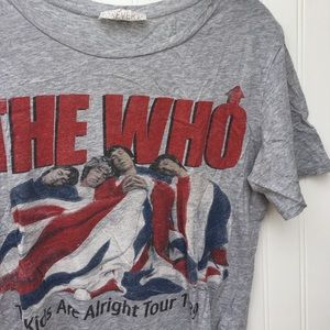 "F21 ""The Who"" graphic tee"