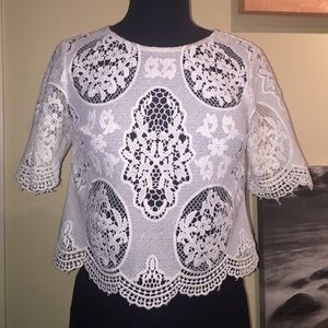 TART COLLECTIONS lace over crop top. Brand new!