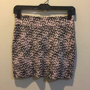 BDG Dresses & Skirts - BDG Pink & Black Printed Mini Skirt