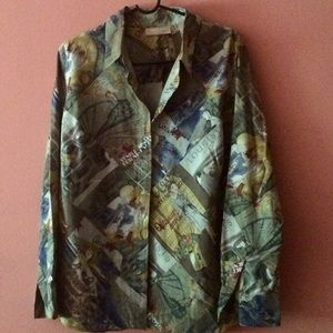Kate Hill Tops - Long Sleeve Silk Blouse