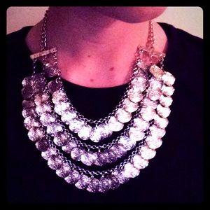 Natasha silver statement necklace
