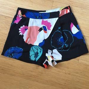 Tibi silk printed shorts