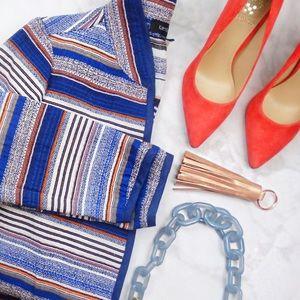Karen Kane Jackets & Blazers - Jacquard Stripe Open Jacket
