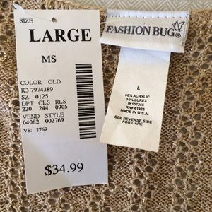 c3fbf2fa790db Fashion Bug Sweaters - FASHION BUG Gold Tie-Front Shrug Crop Cardigan NWT
