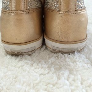 ef22ff1f0bbe BCBGeneration Shoes | Super Sparkly Gold Wedge Sneakers | Poshmark