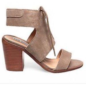 New Steve Madden grey sandal heel size 7