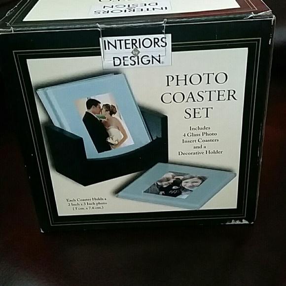 Other Photo Glass Coaster Set Poshmark