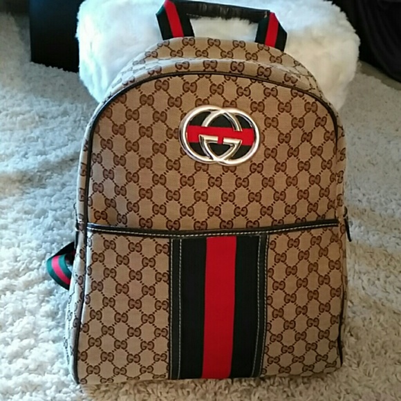 9087030f914 Gucci Bags   Flash Sale Canvas Backpack   Poshmark