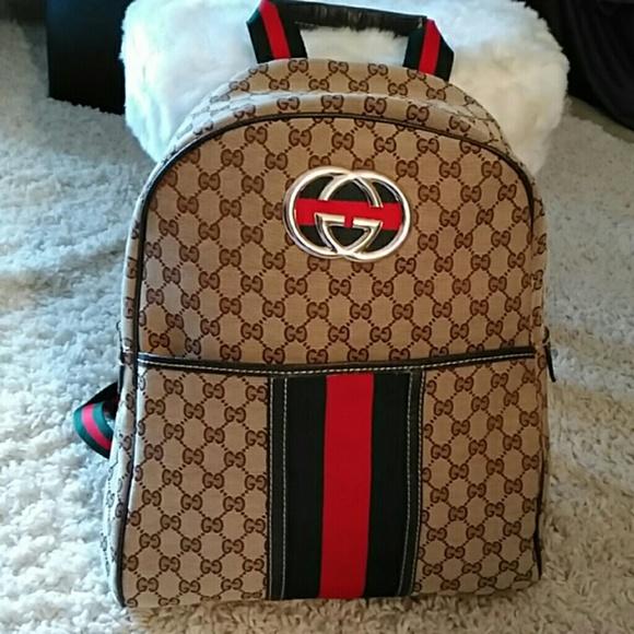 b057ecc77e40 Gucci Handbags - FLASH SALE! Gucci Canvas Backpack