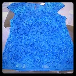 ECI Tops - Blue Lace Top