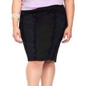 torrid Dresses & Skirts - NWT Torrid TRIPP black pencil lace skirt plus size