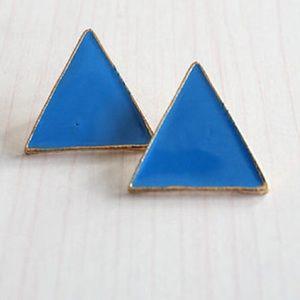 BEW turquoise Geometric post earrings