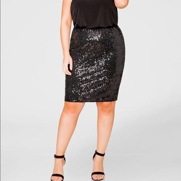eafa09106a BNWT Ashley Stewart sequin stretch skirt 16W. M_57bdd071c6c7955dda006226