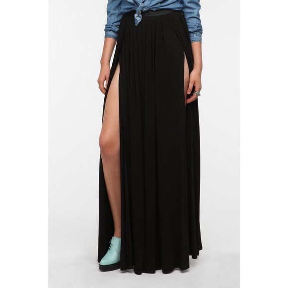 163d277a1d Urban Outfitters Skirts | Uo Ecot Double Slit Maxi Skirt | Poshmark