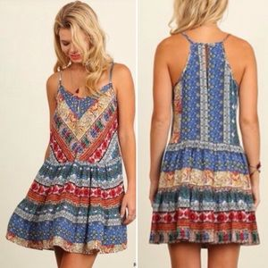 Tribal Print Swing Tunic Dress