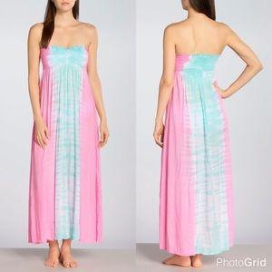 Tiare Hawaii Dresses & Skirts - Tiare Hawaii Lanikai Smocked Maxi Dress-PINK