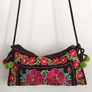 Floral Boho Cross Body Ethnic Bag