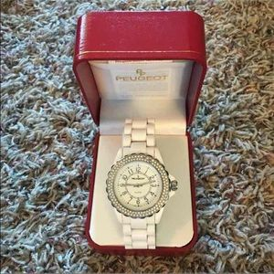 Peugeot Accessories - Peugeot Women's White Watch