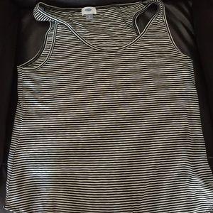 Black and white striped tank
