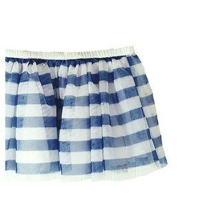 Epic Threads Other - 💘HP💘 Girls Blue Stripe Tulle Skirt