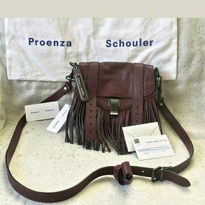 Proenza Schouler Handbags - Proenza Schouler burgundy fringe bag