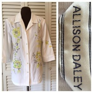 Allison Daley Tops - Allison Daily Button Down Top Size 14